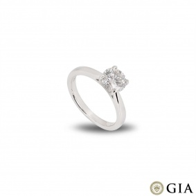 Platinum Round Brilliant Cut Diamond Ring 1.30ct G/SI1 XXX